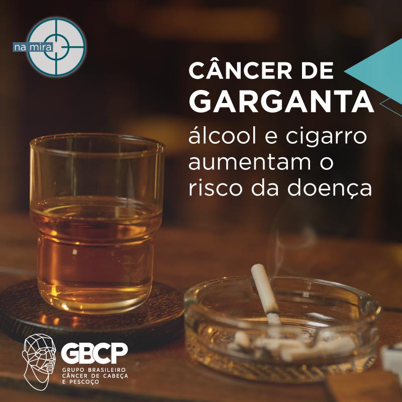 Câncer de garganta: álcool e tabagismo aumentam o risco da doença